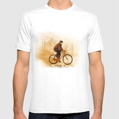 The Biker Mens Fitted Tee White SMALL