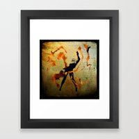 flame dancer Framed Art Print