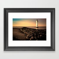 New Brighton Sunset Framed Art Print