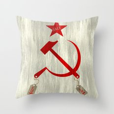 Communism vs. Capitalism Throw Pillow