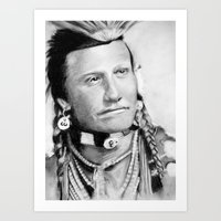 native american Art Prints featuring Native American by chomaee