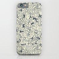 A1B2C3 indigo ivory iPhone 6 Slim Case