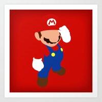 The world famous plumber (Mario) Art Print