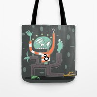 Crazy Alien Tote Bag