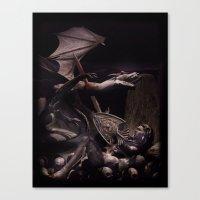 Dearg Doom The Dragon Sl… Canvas Print
