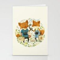 Fox Friends Stationery Cards