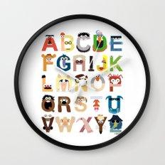 Muppet Alphabet Wall Clock