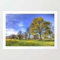 Summertime Farm England Art Print