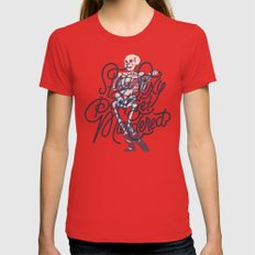 Stay Sexy, Don't Get Murdered Womens Fitted Tee Red SMALL