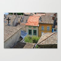The Houses In Crest Canvas Print
