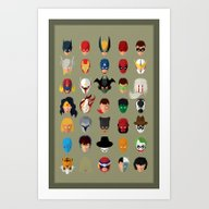 SuperHeroes Art Print