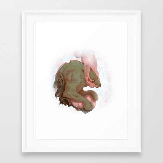 Pain Framed Art Print