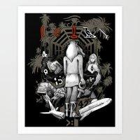 Lost Collage Art Print