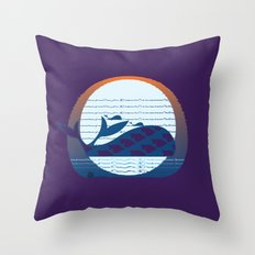 Whale Migration Throw Pillow