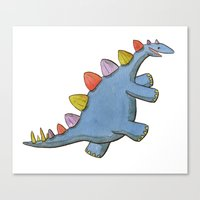 Stomp-a-saurus! Canvas Print
