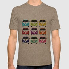 VW Campervan Mens Fitted Tee Tri-Coffee SMALL