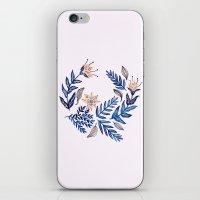 Blue Wreath iPhone & iPod Skin