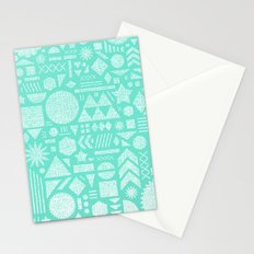 Modern Elements with Turquoise Stationery Cards