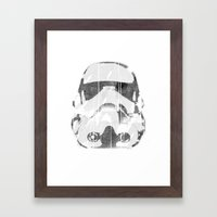 Watermark Stormtrooper Framed Art Print