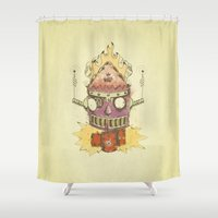 Jellyroll #9: Caos Shower Curtain