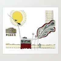 In the night time Art Print