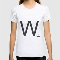 Scrabble W Womens Fitted Tee Ash Grey SMALL