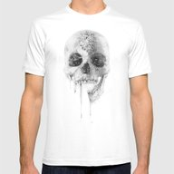 Crystal Skull Mens Fitted Tee White SMALL
