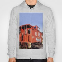 Lil Red Caboose -Wellsboro Ave Hurley ArtRave Hoody