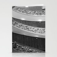 Vatican circular staircase Stationery Cards