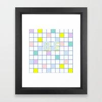 Be Windowpane Grid Framed Art Print