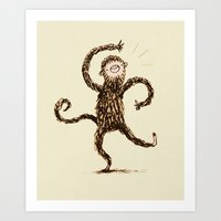 Silly Monkey! Art Print