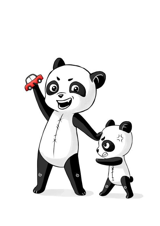 Panda Brothers Art Print