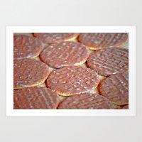 Chocolate Digestive Biscuits Art Print