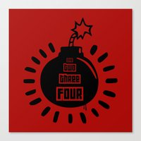 One, Two, Three, Four Canvas Print
