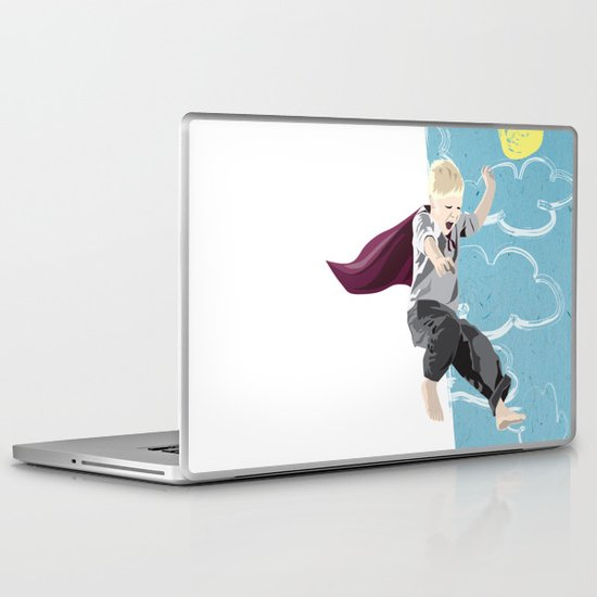 The man who has no imagination has no wings. Laptop & iPad Skin