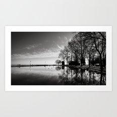 Balaton - reflection Art Print