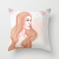 Pink Alice  Throw Pillow