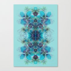 Blue fireworks Canvas Print