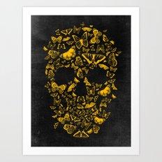 Skull Butterfly 2 Art Print
