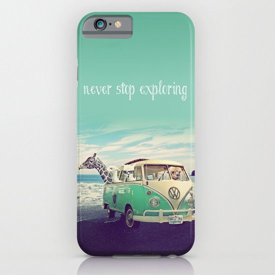 NEVER STOP EXPLORING THE BEACH iPhone & iPod Case