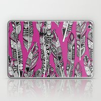 Geo Feathers Hot Pink Laptop & iPad Skin