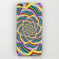 iPhone & iPod Skin featuring Colorful Curved Chevron … by Objowl