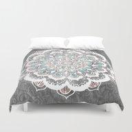 Pastel Floral Medallion … Duvet Cover