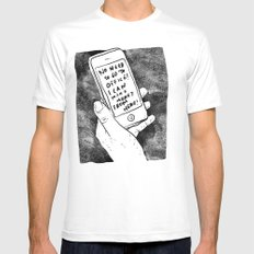 smartphone White Mens Fitted Tee SMALL