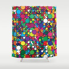 Covalent Geometric Art Print. Shower Curtain