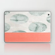 Laptop & iPad Skin featuring Coral And Marble Polkado… by Jenna Davis Designs