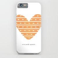 CORAZON (naranja) iPhone 6 Slim Case