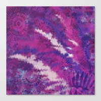 Pink and Purple Floral print Canvas Print