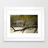 Great Blue Heron Landscape Framed Art Print