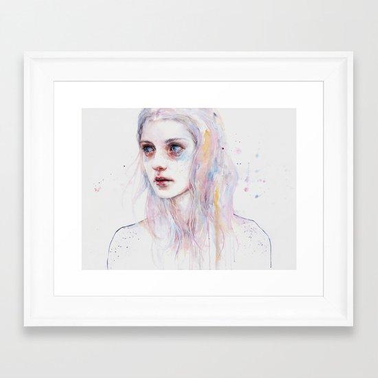 unsaid things Framed Art Print